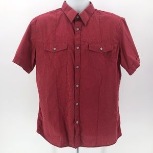 Banana Republic Red Short Sleeve Button Shirt